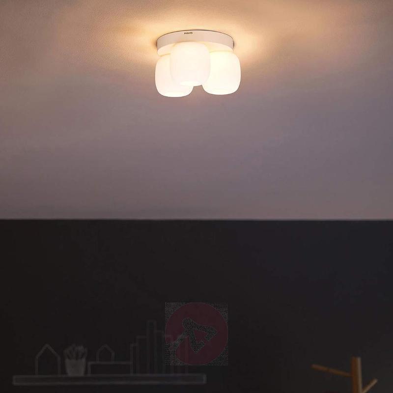 Three-bulb LED ceiling lamp Meton in white - Ceiling Lights