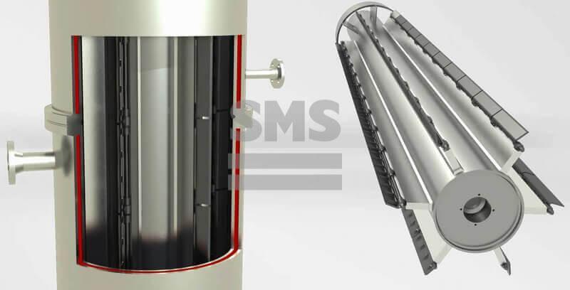 Тонкопленочный испаритель - Тонкопленочный испаритель обработаны в вертикальном и горизонтальном исполнении