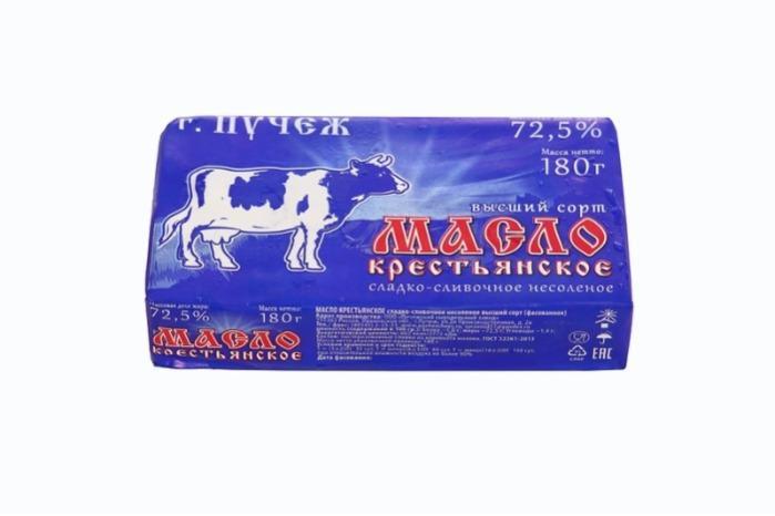 Butter - KRESTIANSKOE (FARM) BUTTER; mass content of fat: 72.5%