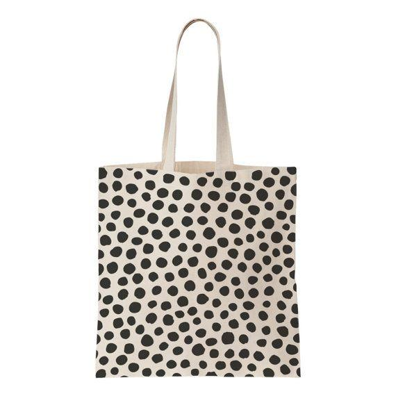 Polka Dot Canvas Cotton Bags