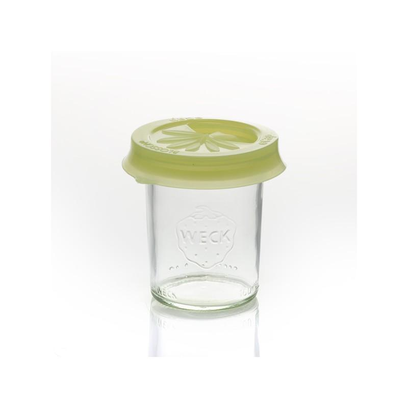 Cap silicone eCAP Infuser diameter 60  - Yellow Olive with spout for jars WECK