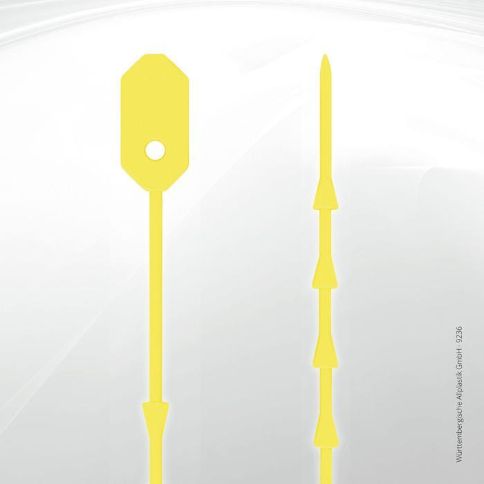 Silicone cable ties - 9236 (yellow)
