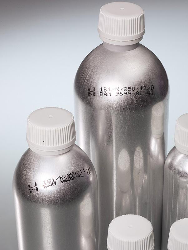 Botella de aluminio - Aluminio puro y Con homologación UN