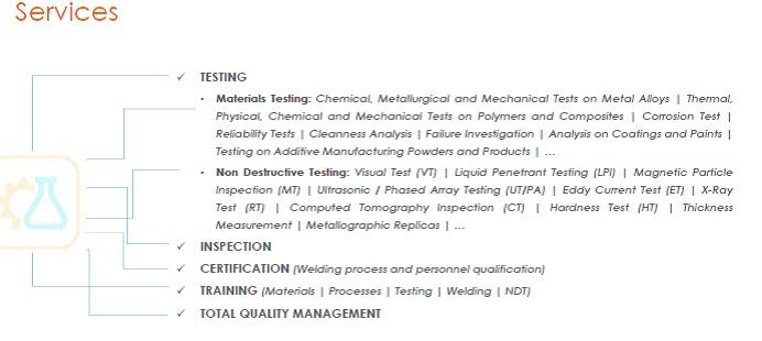 Testing Services -