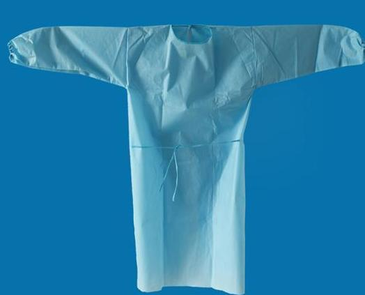 Disposable SMS surgical gown - Color: blue, white, green, yellow Material: SMS or SMMS nonwoven fabrics