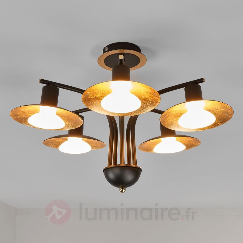 Élégant plafonnier LED Andrej à 5 lampes - Plafonniers LED