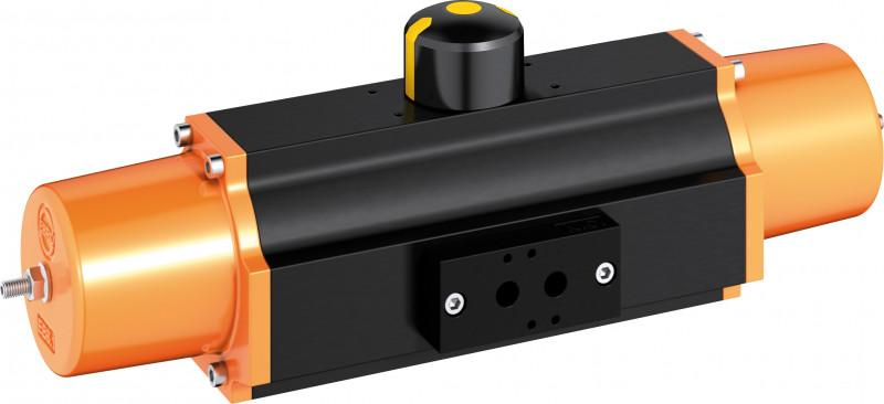 Pneumatic actuator type EB-SYS - The EB-SYS series are manufactured according to the scotch yoke principle.