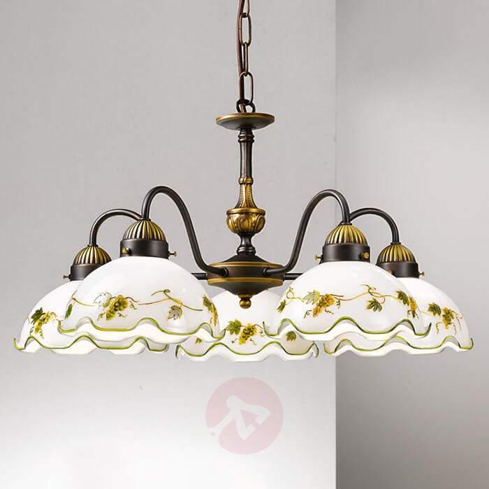 Dining room hanging light Nonna, 5 bulbs, grapes - Pendant Lighting