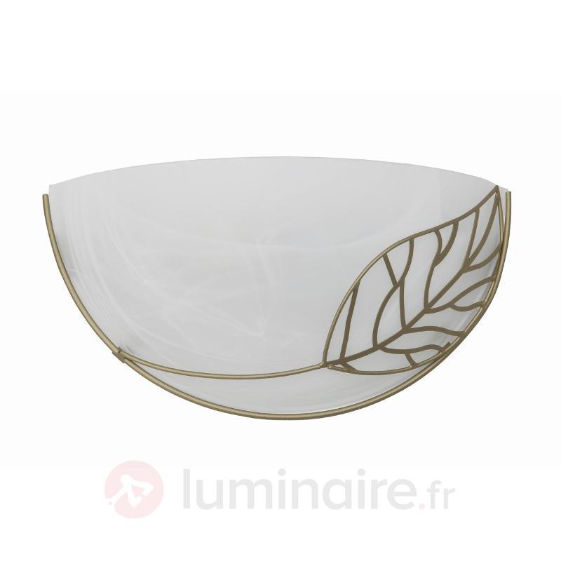 Applique-vasque Anais avec décor de feuilles - Appliques en verre
