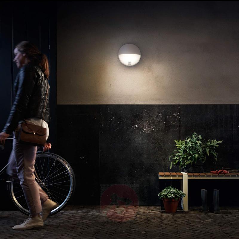 Modern LED wall light Capricorn with sensor - outdoor-led-lights