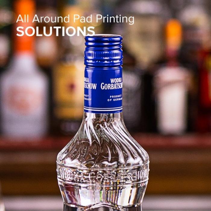 Aplicaciones para la industria de las bebidas - Aplicaciones para la industria de las bebidas con tampografía y marcado láser