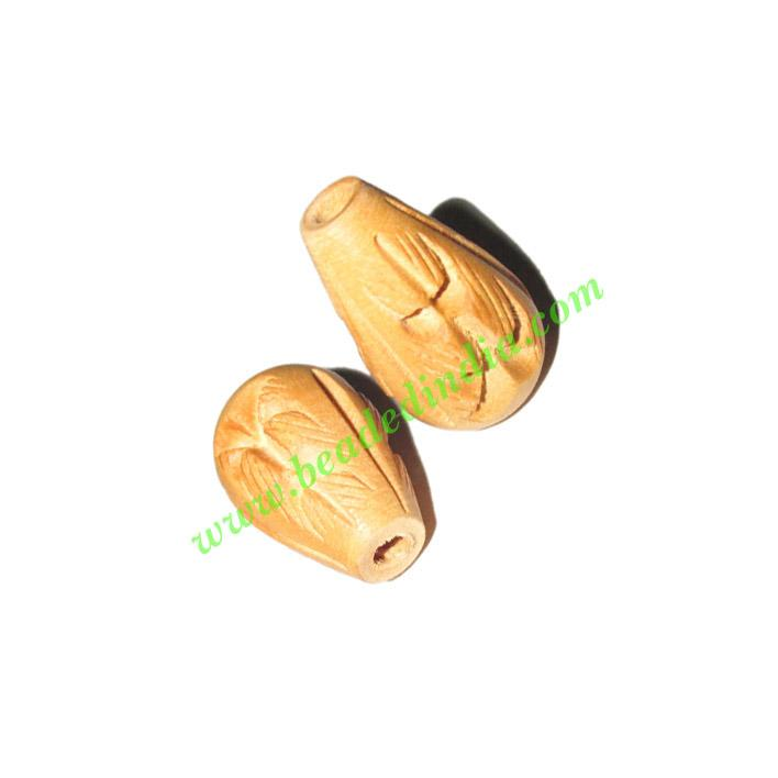 Natural Color Wooden Beads, size 15x22mm, weight approx 1.62 - Natural Color Wooden Beads, size 15x22mm, weight approx 1.62 grams