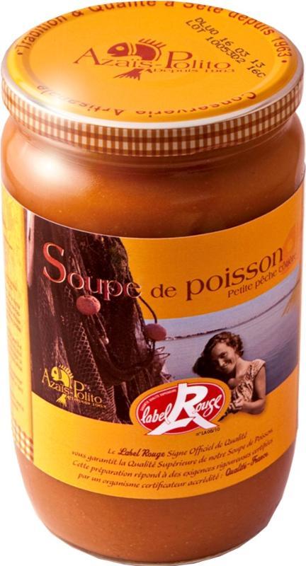 """Soupe de Poisson """"Petite Pêche Côtière"""" Label Rouge 72cl - Epicerie salée"""
