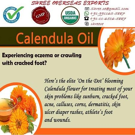 Organic Calendula Oil - USDA Organic