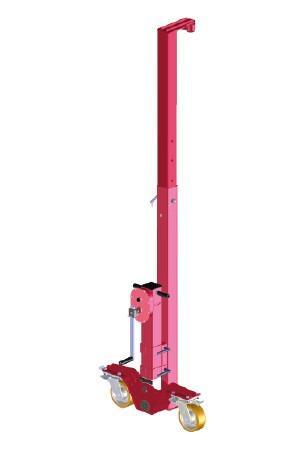 Rodillo portacontenedores con elevación de carga6t - Ruedas para contenedores con elevación de carga para contenedores estándar