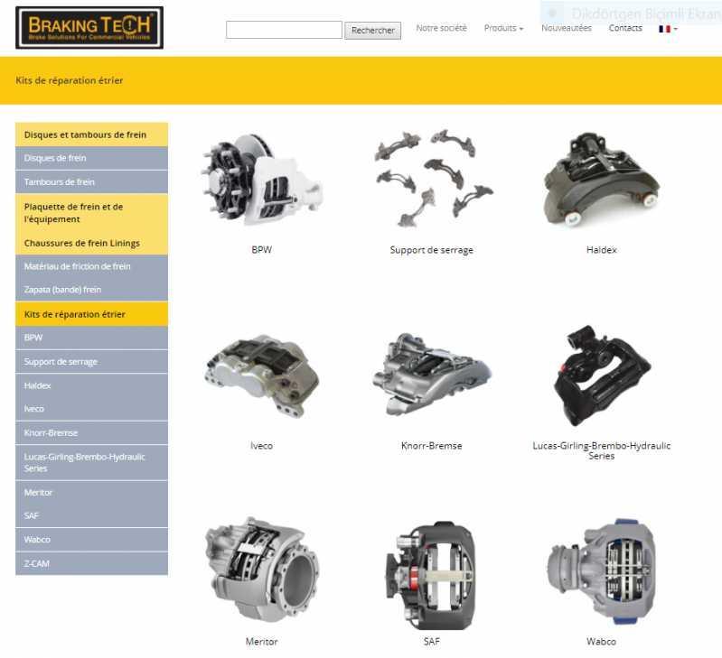Pieces de rechange et kits de réparation (étrier de frein)