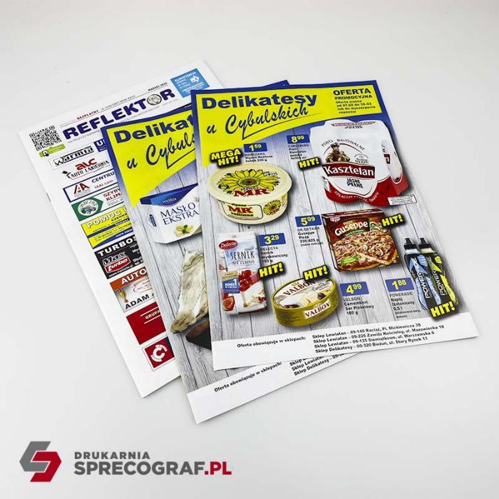 Riviste, giornali pubblicitari, opuscoli  - Rilegatura a punto sella, A4, A5 o formato non standard