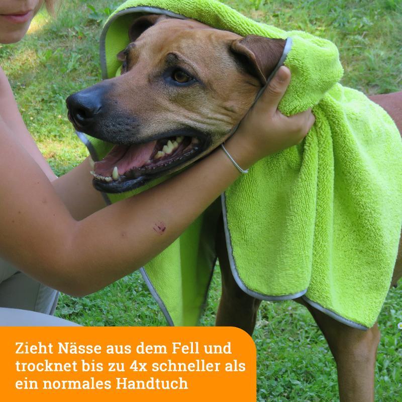 Mikrofaser Hundehandtuch: sanft & saugstark - Tiere pflegen