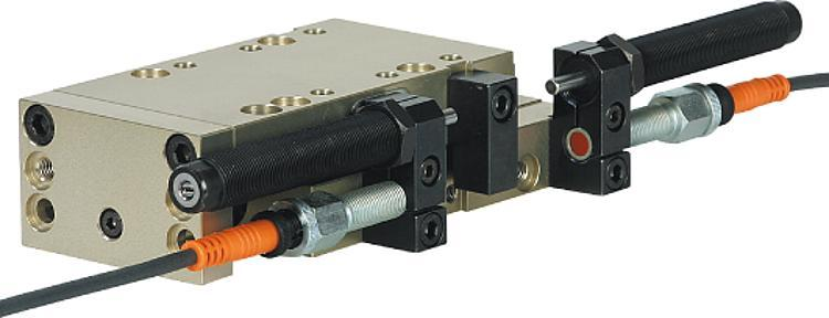 Linear modules pneumatic with rail guide - Pneumatic handling system