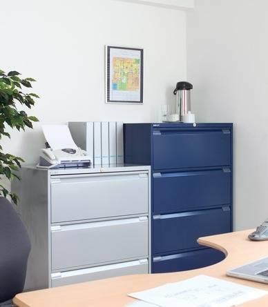 Caissons à tiroirs pour dossiers - Armoires et caissons métalliques