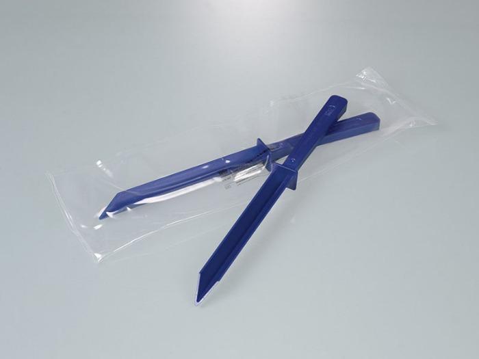 Espátula detectable, azul - Visible a los detectores de metales o a los rayos X