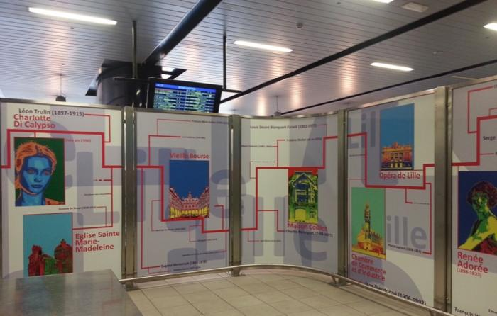Panneau d'exposition - panneau exposition mise en scene