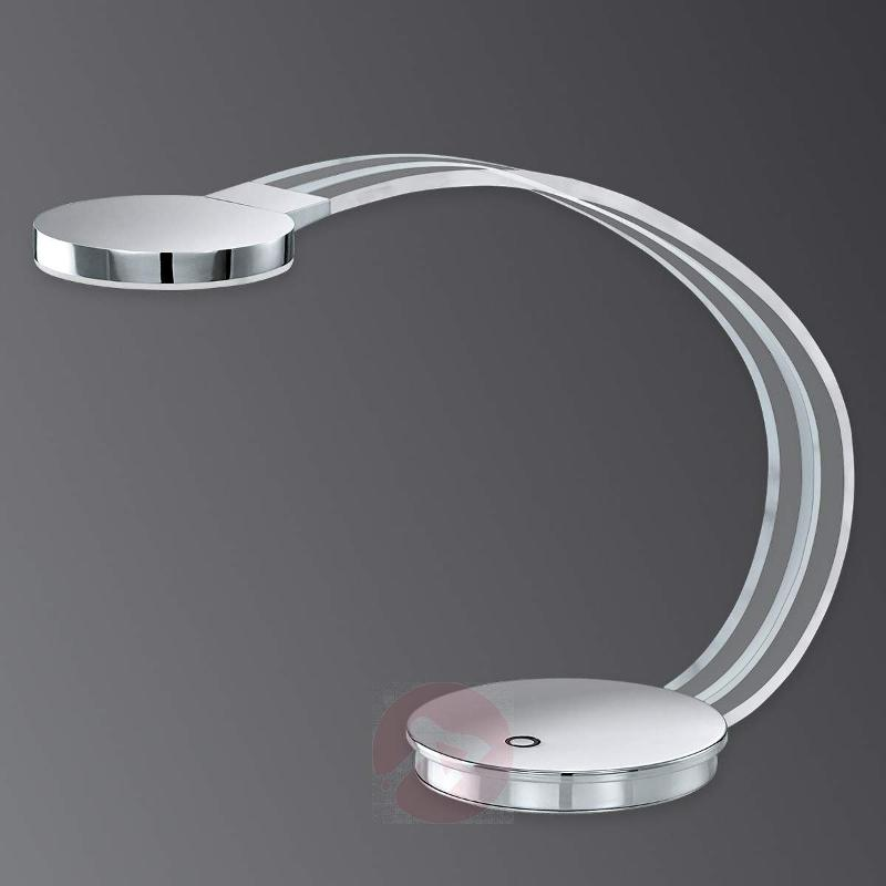 Curved Tartini LED table lamp - Table Lamps