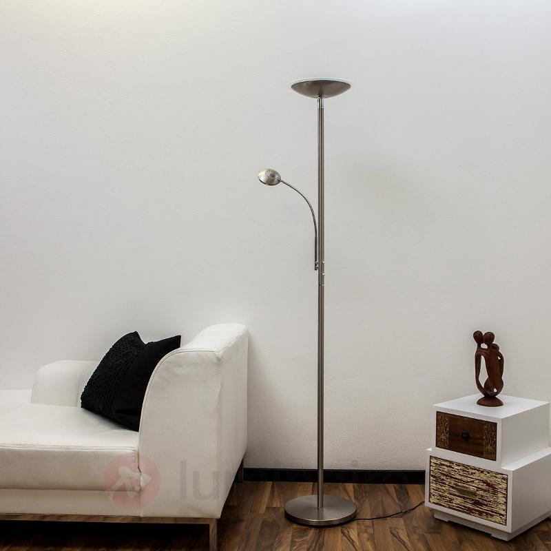 Lampadaire à éclairage indirect LED Malea nickel - Lampadaires LED à éclairage indirect