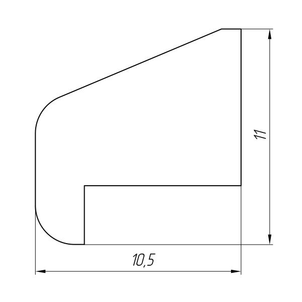 Aluminum Profile For Car And Rail Car Building Ат-1329 - Aluminum profile for mechanical engineering
