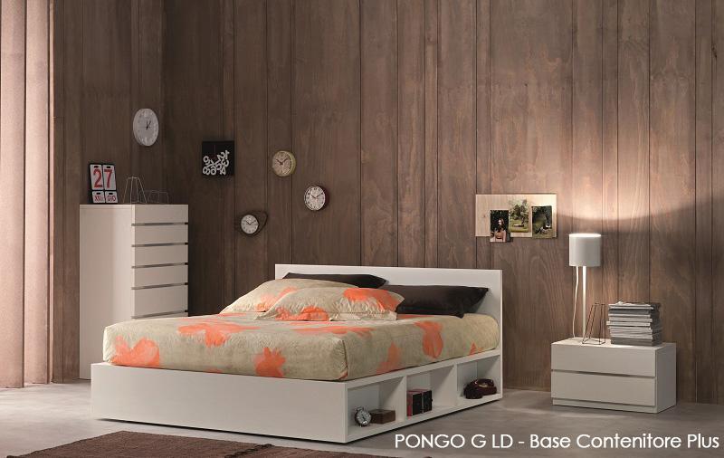 PONGO G LD , LETTO IN LEGNO CON CONTENITORE PLUS , OGGIONI & C. SRL ...