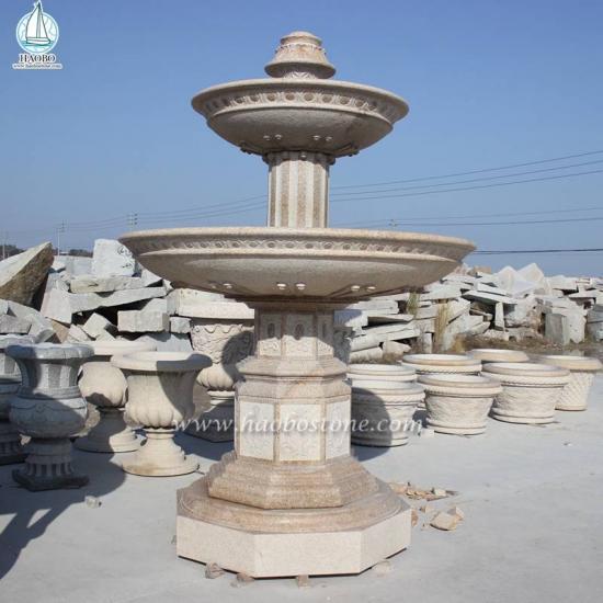 Outdoor Garden Stone Water Feature Waterwheel Fountain - Fountain