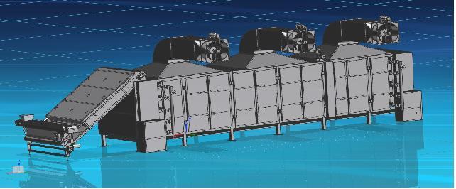 Овощесушильное оборудование - Сушилка конвейерная ленточная паровая Г4- КСК
