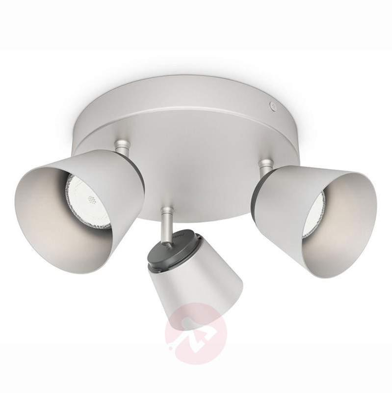 Matt chrome LED circular ceiling spotlight Dender - Ceiling Lights