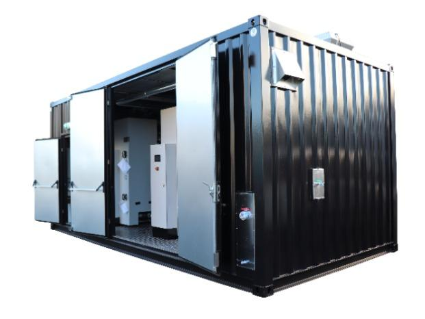 Container stoomketel - Compleet stoom systeem in een (mobiele) container
