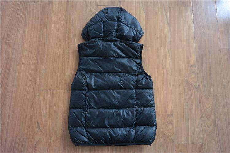 Women's hooded down vest waistcoat for winter YH16-20-CH - YH16-20-CH