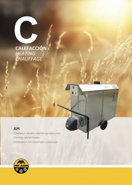 Generador de aire caliente para invernaderos - Calefacción de invernaderos y grandes superficies - AM