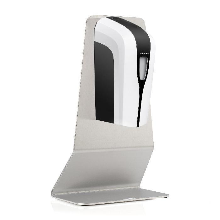 Sensor-Desinfektionsspender + Tisch-Ständer - 2 Sprühstufen: 0,3 ml oder 0,6 ml pro Anwendung eingebaute PET-Flasche mit 1000