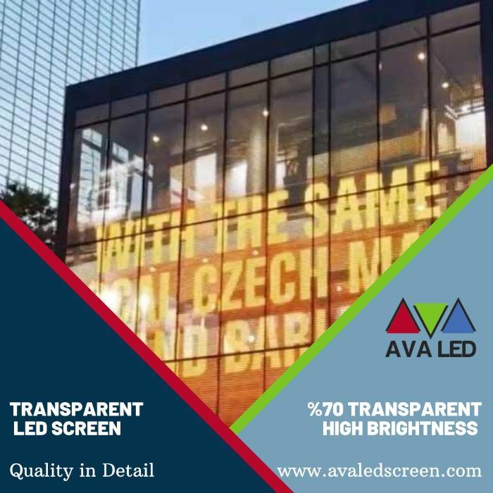 Transparent Led Panel - bina giydirmelerinde kullanılacak şeffaf AVA Led Ekran