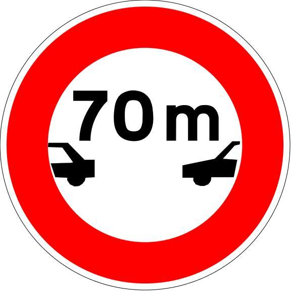 Panneau B17 Intervalle Minimal - Balisage De Chantier Et Panneaux Routiers