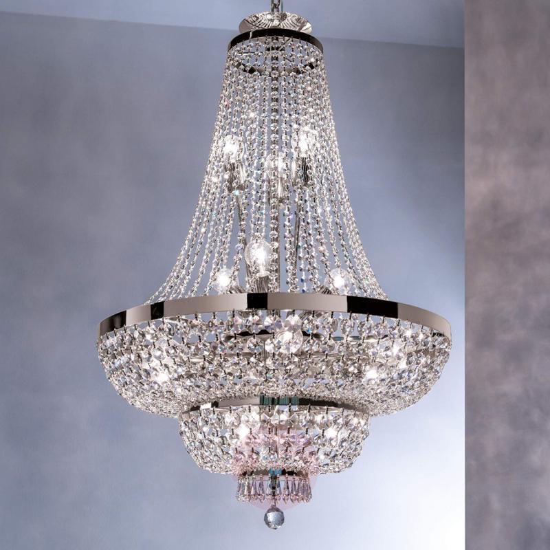 Crystalchandelier Sheraton, chrome - design-hotel-lighting