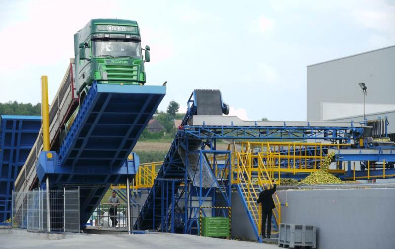 Raw material receipt & transport section - Dry/wet discharge/unloading | Sorting machines | Vertical elevators...