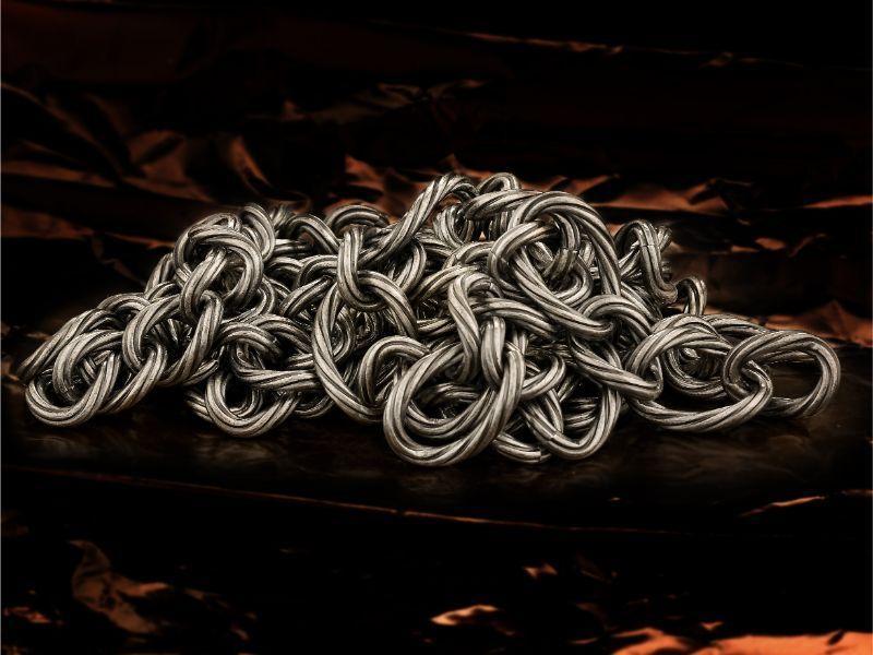 catene godronate e galvanizzate in argento - null