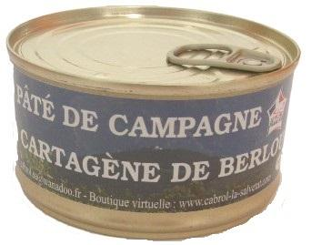 Pâté de campagne à la Cartagène  de Berlou - Epicerie salée