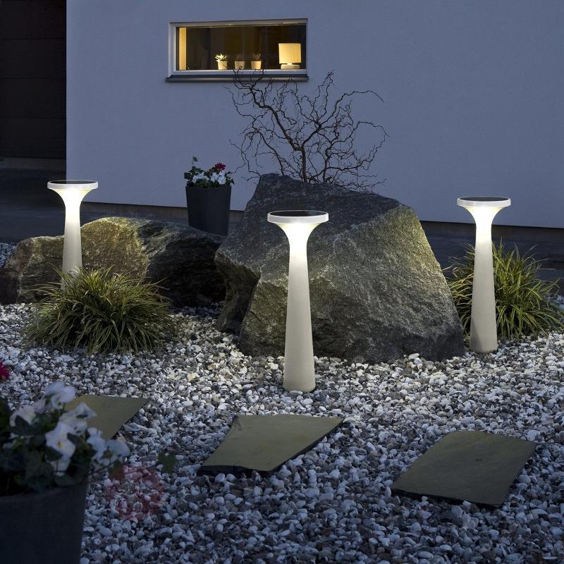 Lampe solaire New Assisi Aton 650 blanche - Toutes les lampes solaires