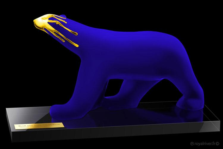 Art pieces - deco - Gold and blue collection