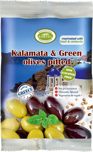 Marinated Olives - Snack Pack Sachet 80g - Marinated Olives with Olive Oil, Herbs & Spices