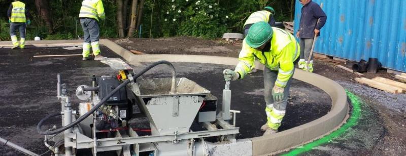 Construction routière en béton - Division