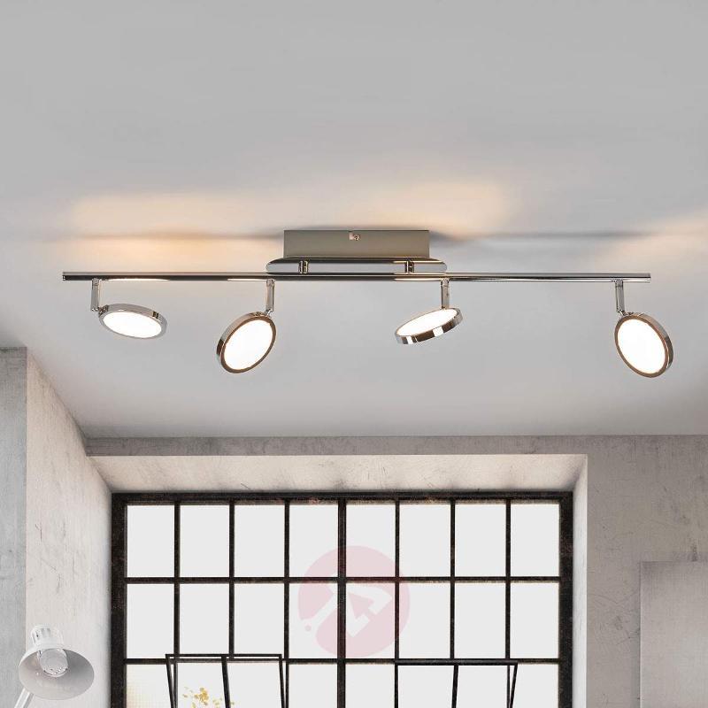 4-Light LED ceiling light Hazel in chrome - Ceiling Lights