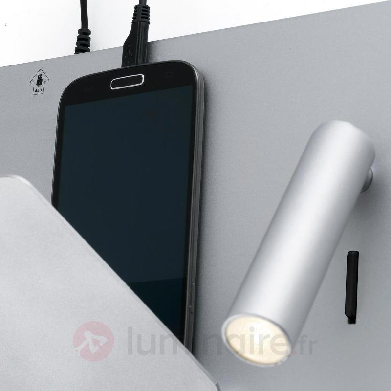 Applique LED fonctionnelle Suau en argenté - Appliques LED