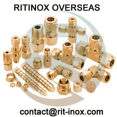 Brass Reducing Hex Nipple -